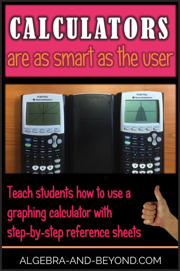 Teach students how to use a graphing calculator with step-by-step reference sheets