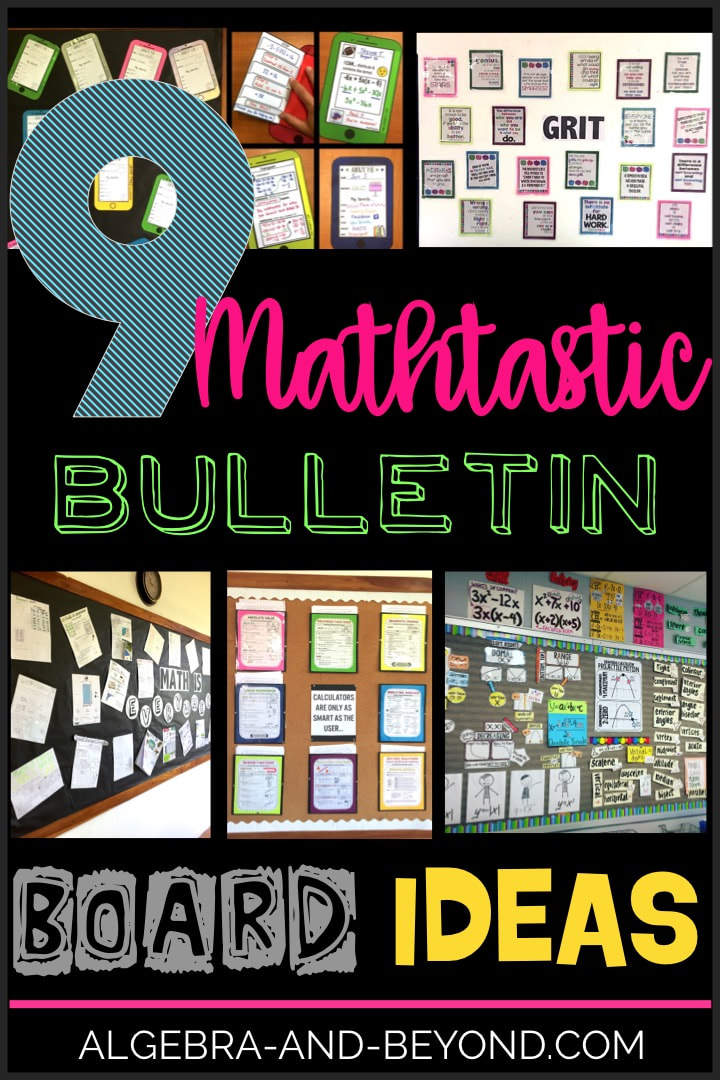 Bulletin board ideas for the middle and secondary school classroom. Discover the next bulletin board for your classroom!