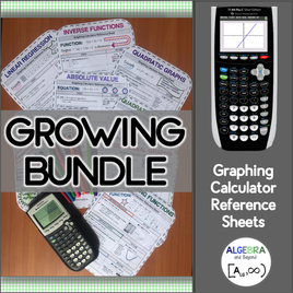 25+ graphing calculator reference sheets!