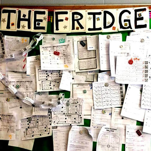 The Fridge is a great way to show of student work. Check out 8 other mathtastic bulletin boards!